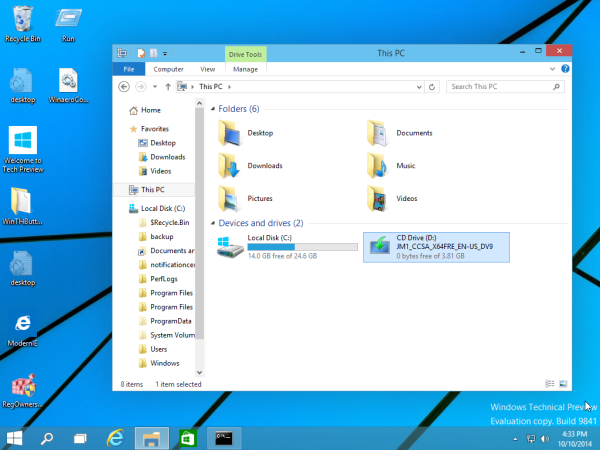 Windows 10 usando DISM