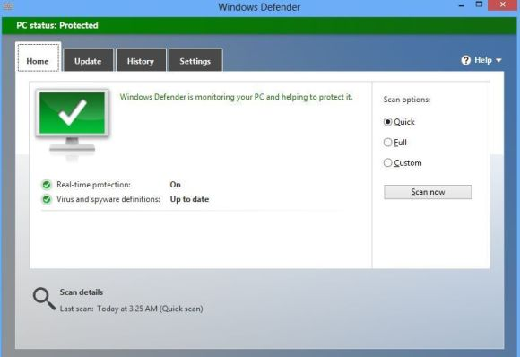 Windows Defender di Windows 8