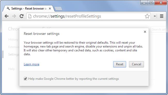 Chrome browser