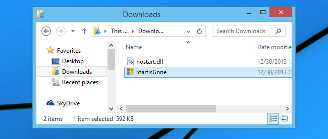 Pulsante Start in Windows 8.1