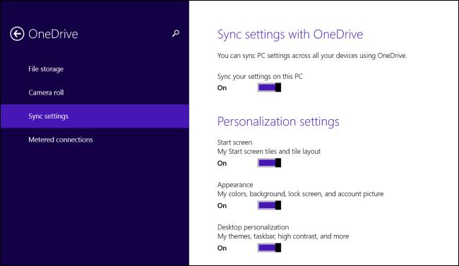 Backup impostazioni sull'account Microsoft