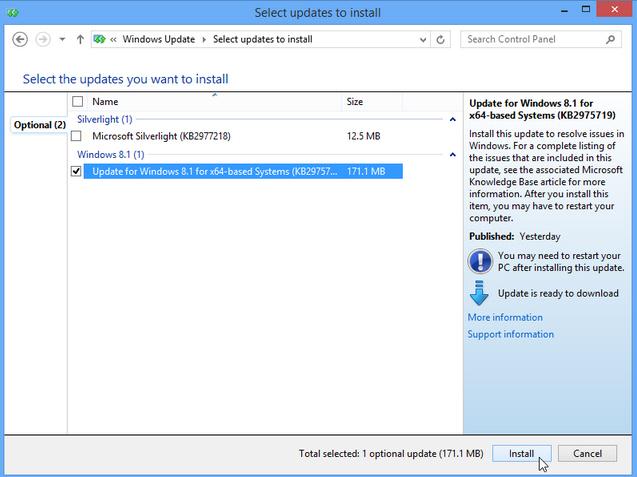 agosto aggiornamento Windows 8.1