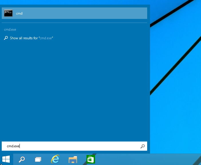 menu Start di Windows 10