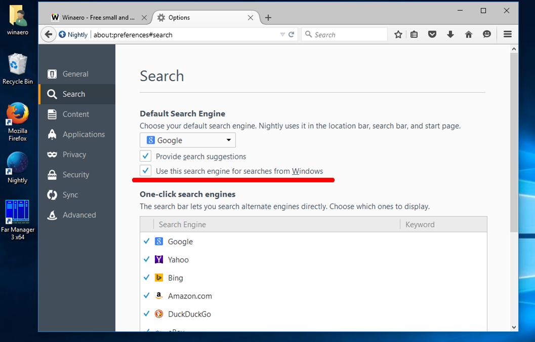 Impostare Google come motore di ricerca predefinita