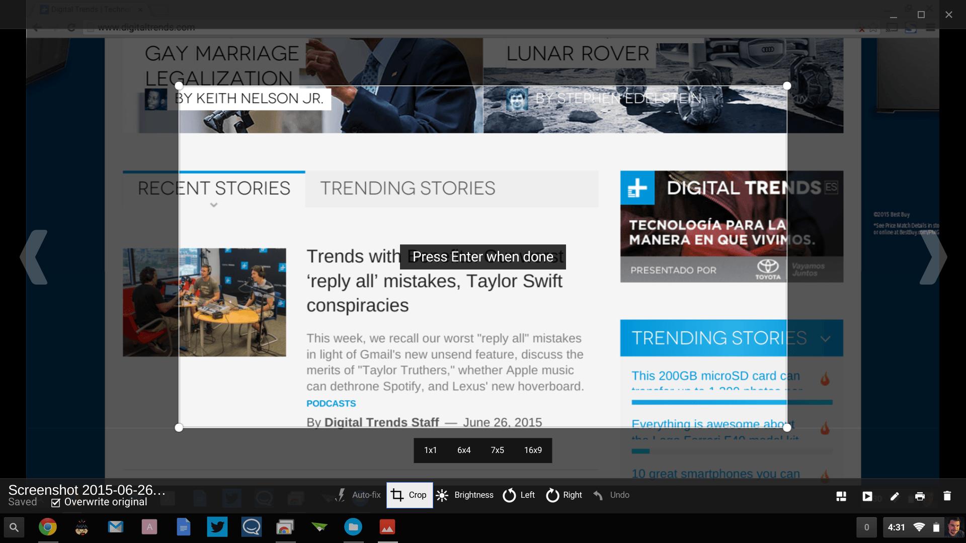 Modificare gli screenshot