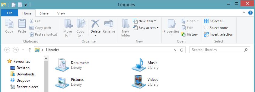 ripulire un menu Multifunzione di Esplora File disordinato in Windows 8