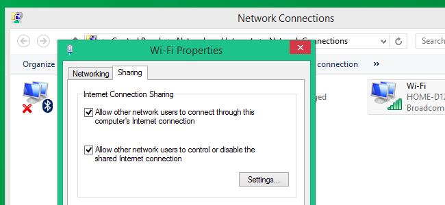Condividere la connessione Internet