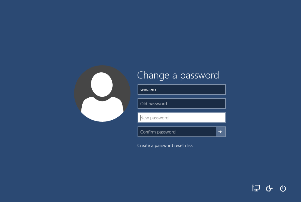 cambiare la password utente in Windows 10