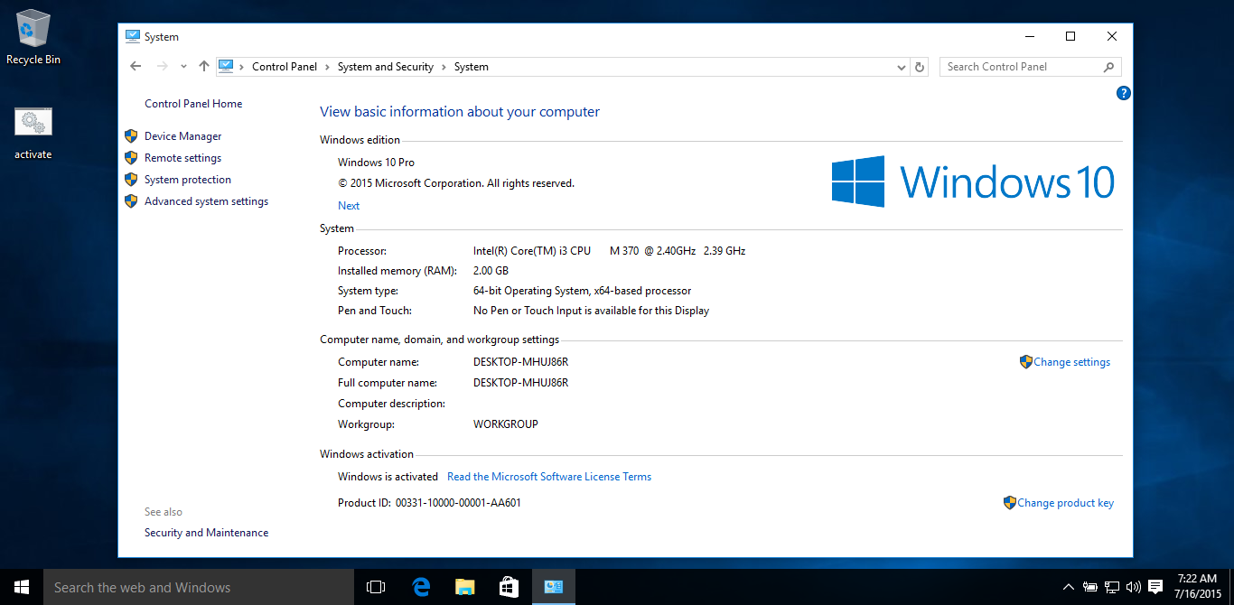 Windows 10 build 10240