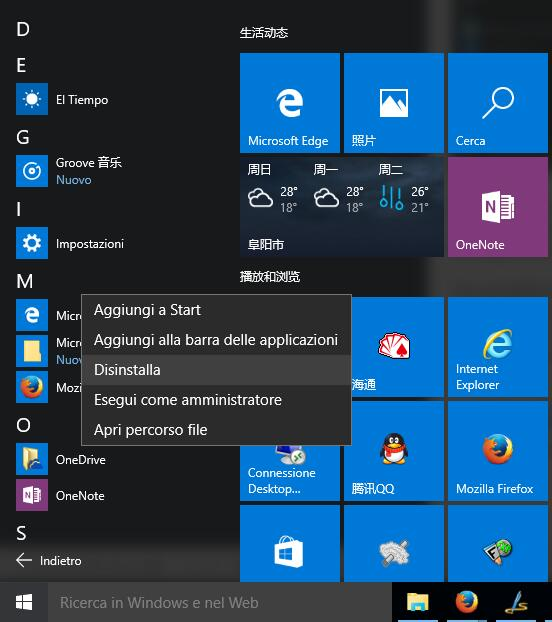 App di Windows 10
