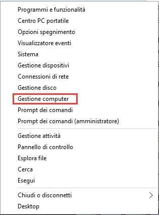 Servizi di Windows 10