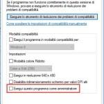 Come far girare sempre i Programmi come Amministratore in Windows 10/8/7
