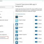 Come fermare le applicazioni di Windows 10 durante l'esecuzione in background