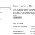 Utilizzare la funzionalità di Scansione Offline di Windows Defender in Windows 10