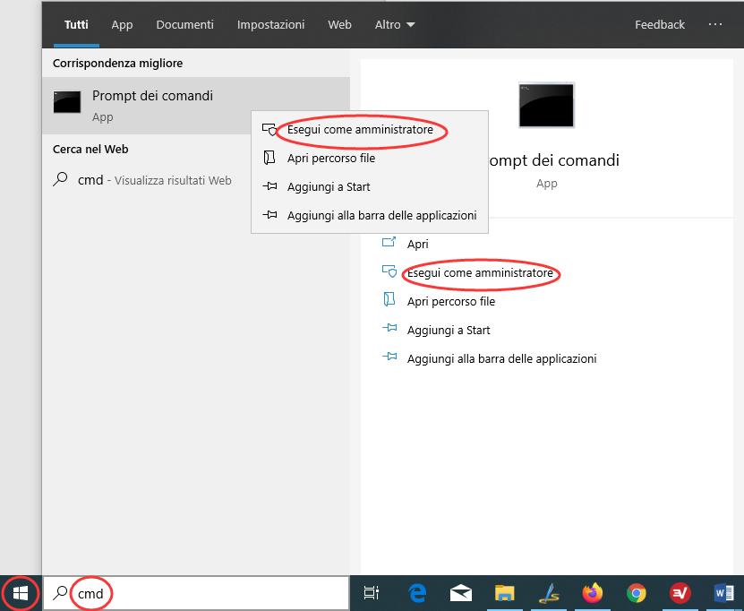 Prompt dei Comandi in Windows