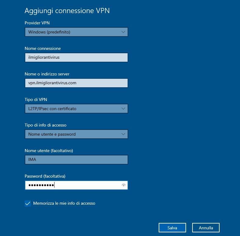 Connessione VPN